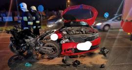 Kolizja na skrzyżowaniu w Wildze – Zderzenie samochodu z motocyklem