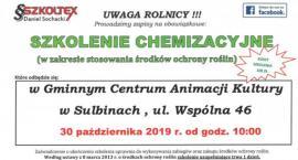 Obowiązkowe szkolenie chemizacyjne dla rolników