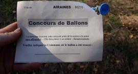 Znalazła balon z listem z Francji