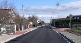 Ulica Pułaskiego z nową nawierzchnią