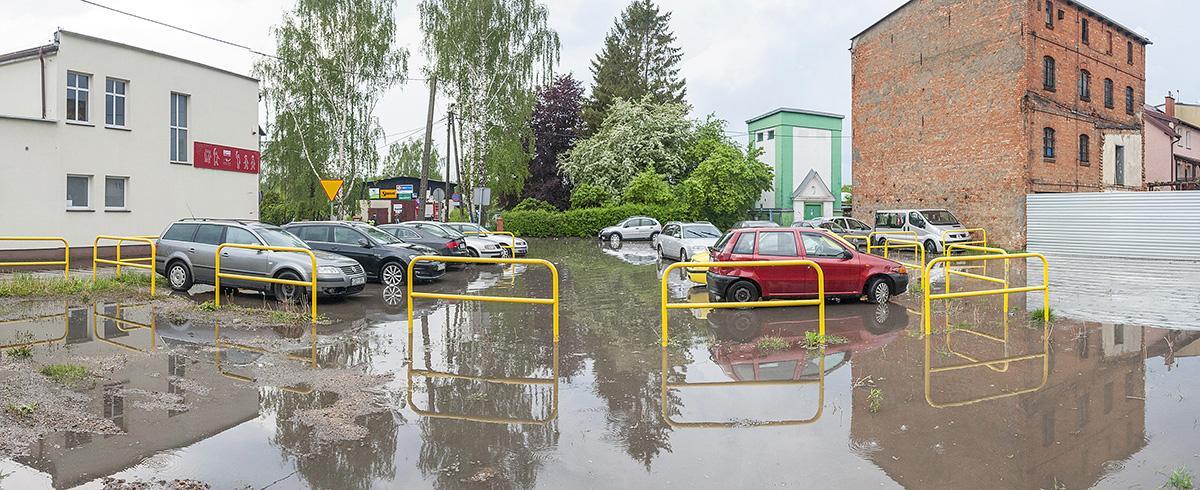 Na bieżąco, Bytów zalany kolejny - zdjęcie, fotografia