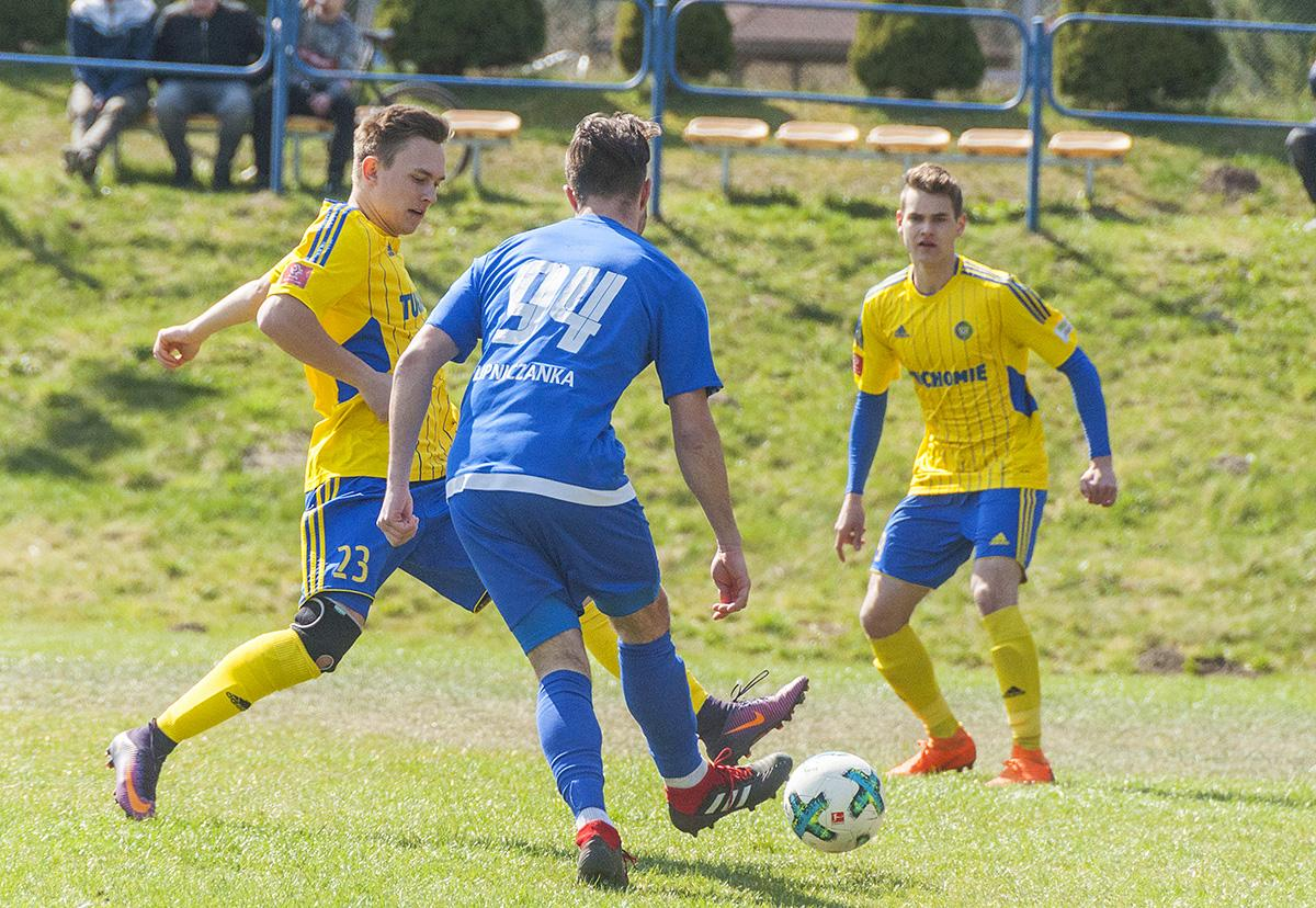 Piłka nożna, Derby okręgówki Myśliwca - zdjęcie, fotografia