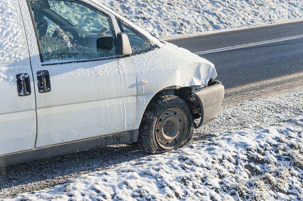 Na drogach, Wypadek krajowej - zdjęcie, fotografia