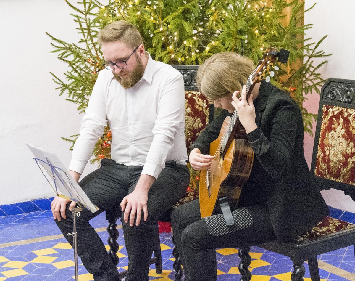 Imprezy, Osobno gitara akordeon - zdjęcie, fotografia
