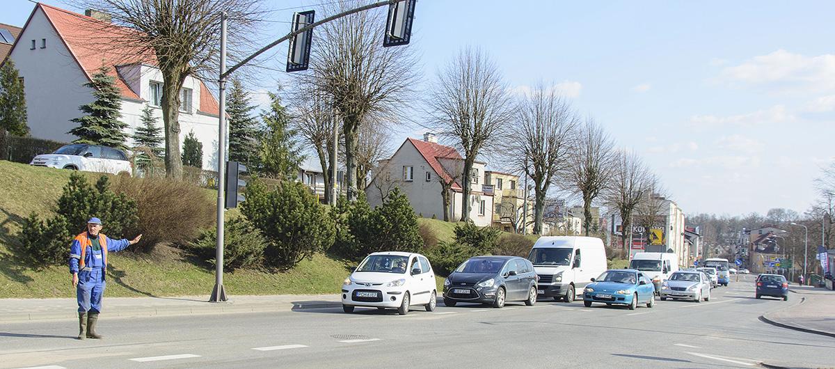Na drogach, Miasto przyblokowane kilka godzin - zdjęcie, fotografia
