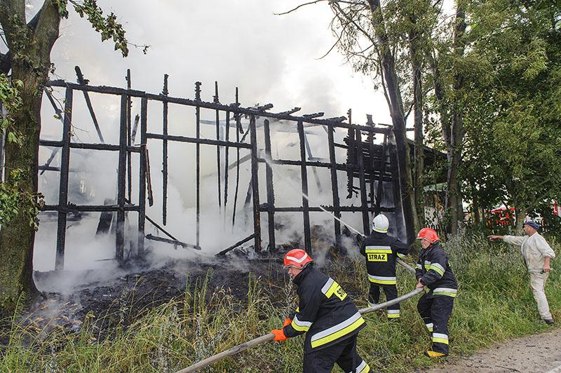 Pali się, Groźny pożar Grzmiącej - zdjęcie, fotografia