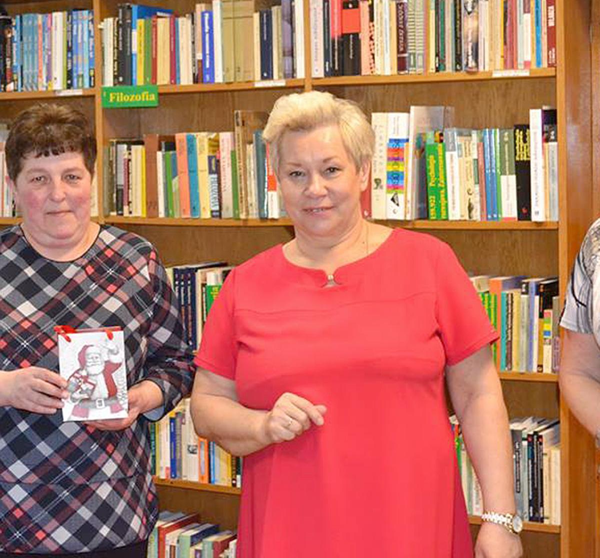 Sylwetki, Bożena Mazur bibliotekarzem - zdjęcie, fotografia