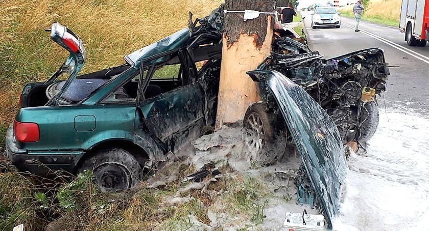Na drogach, Wypadek Bytowem - zdjęcie, fotografia