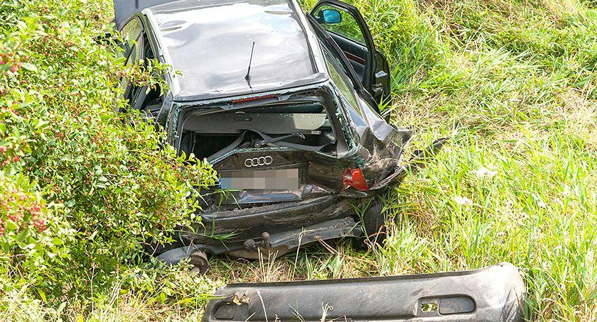 Wypadki drogowe , Wypadek Pomysku Wielkim - zdjęcie, fotografia