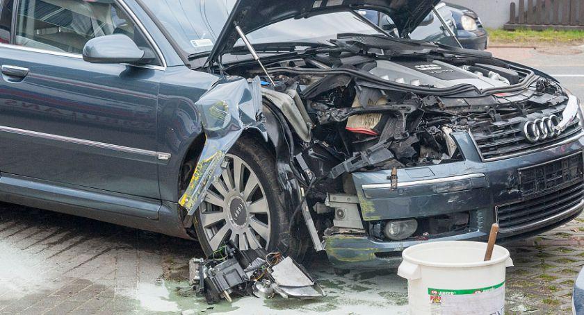 Wypadki drogowe , Wypadek Tuchomiu - zdjęcie, fotografia