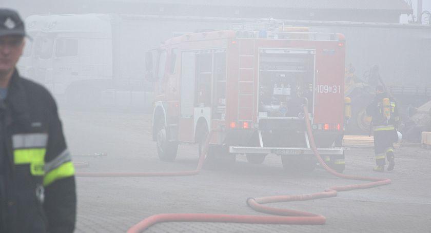 Pali się, Pożar Gliśnie Wielkim wyniosły straty - zdjęcie, fotografia