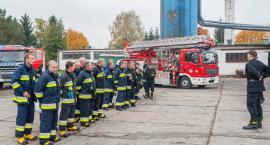 Ćwiczenia strażaków w Jezierzu
