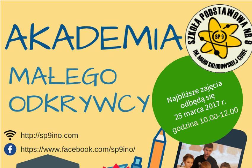 Edukacja, Akademia Małego Odkrywcy - zdjęcie, fotografia