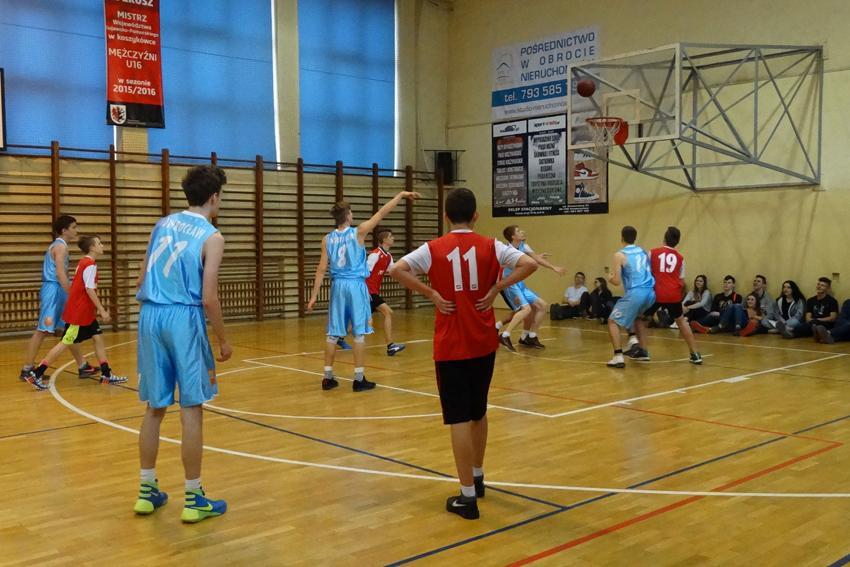 Koszykówka, Gimnazjum Kasprowicza najlepsze Powiecie - zdjęcie, fotografia