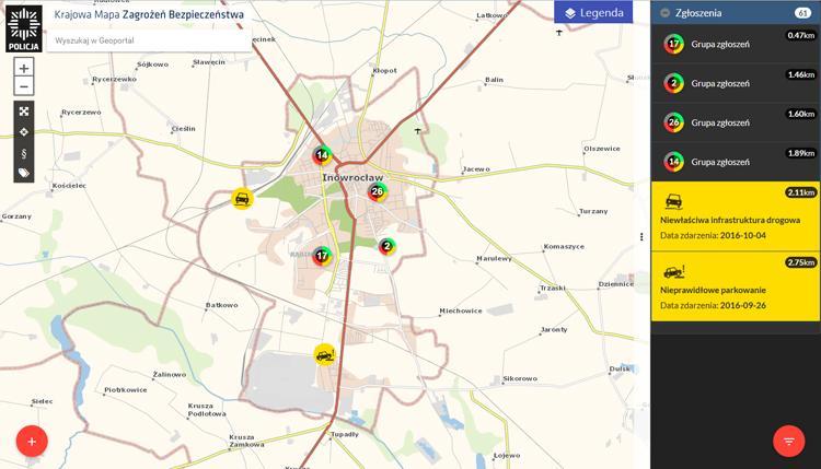 Komunikaty Policja, Sygnały naniesione Mapę Zagrożeń przez mieszkańców policjanci sprawdzają weryfikują - zdjęcie, fotografia