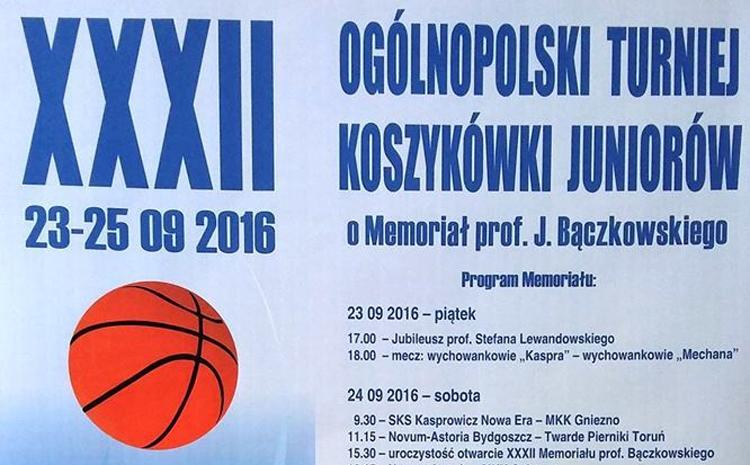 Koszykówka, XXXII Ogólnopolski Turniej Koszykówki Juniorów Memoriał Bączkowskiego - zdjęcie, fotografia