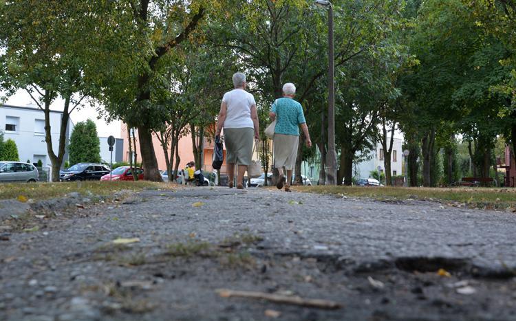Społeczeństwo, Alejki parku osiedlu Piastowskim znacznie wypięknieją - zdjęcie, fotografia