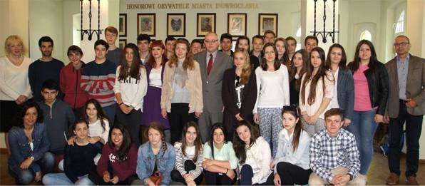 edukacja, Uczniowie nauczyciele Hiszpanii Inowrocławiu - zdjęcie, fotografia