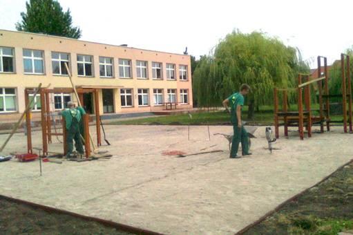 edukacja, Trwają prace remontowe - zdjęcie, fotografia