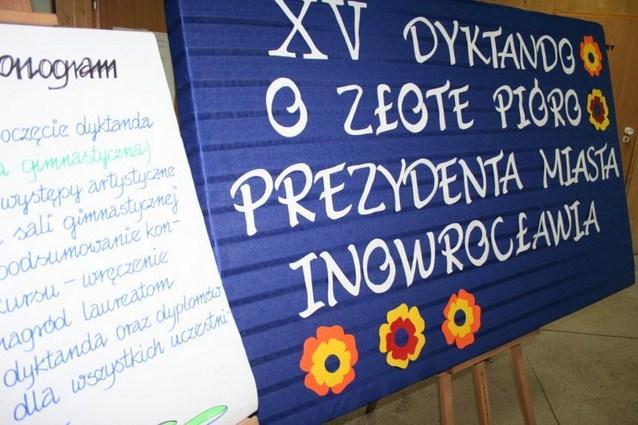 edukacja, złote pióro Prezydenta Miasta Inowrocławia - zdjęcie, fotografia