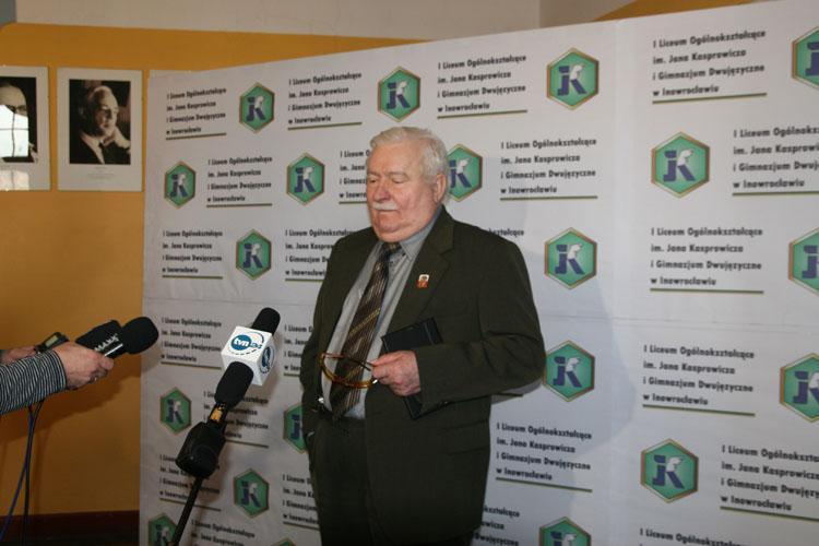 Wiadomości, Wałęsa Inowrocławiu - zdjęcie, fotografia