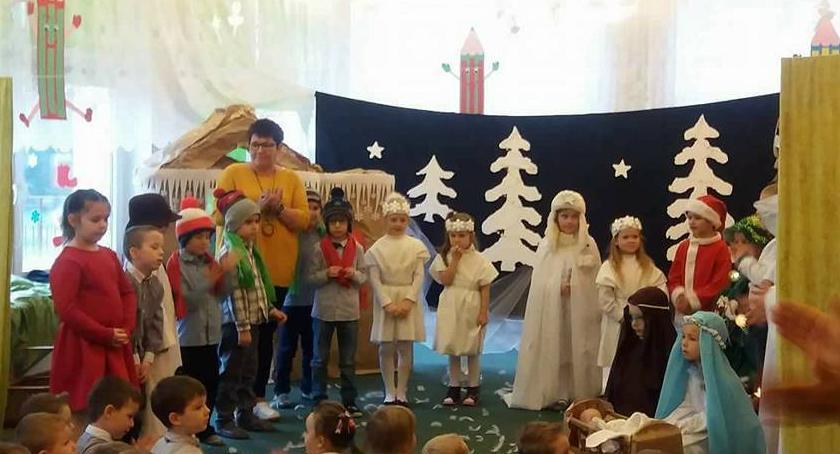 przedszkola, wigilią Kujawskich dzieciach było - zdjęcie, fotografia