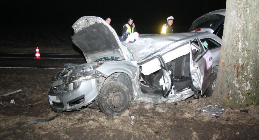 Wypadki drogowe , Śmiertelny wypadek Kruszwicą - zdjęcie, fotografia