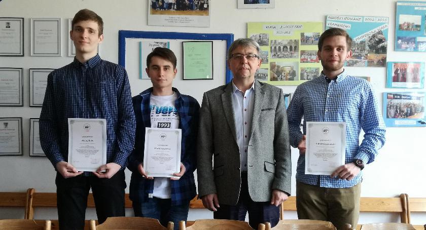 ponadgimnazjalne, Życiowy sukces uczniów Konopy - zdjęcie, fotografia