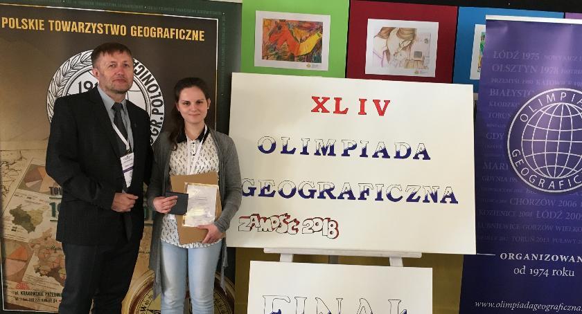ponadgimnazjalne, Kolejny geograficzny sukces uczennicy Konopy - zdjęcie, fotografia