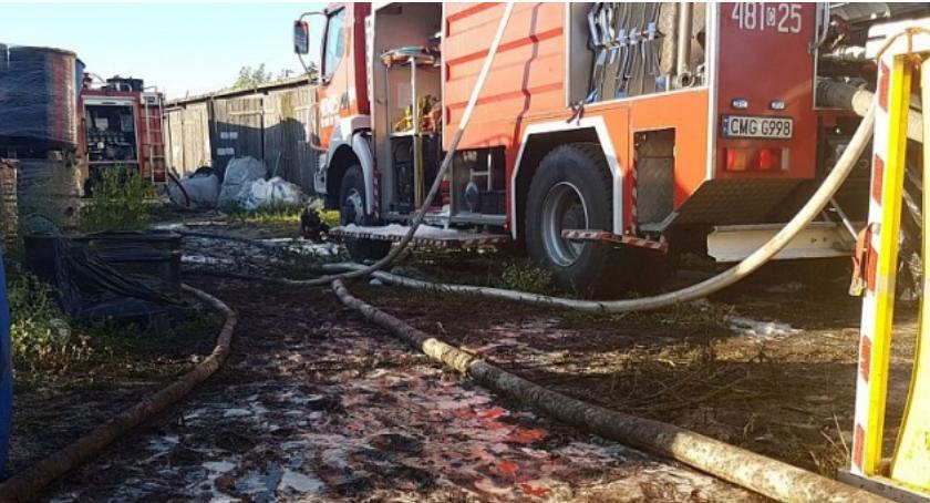 Straż Pożarna - interwencje , Pożar składowiska chemikaliów gminie Mogilno - zdjęcie, fotografia