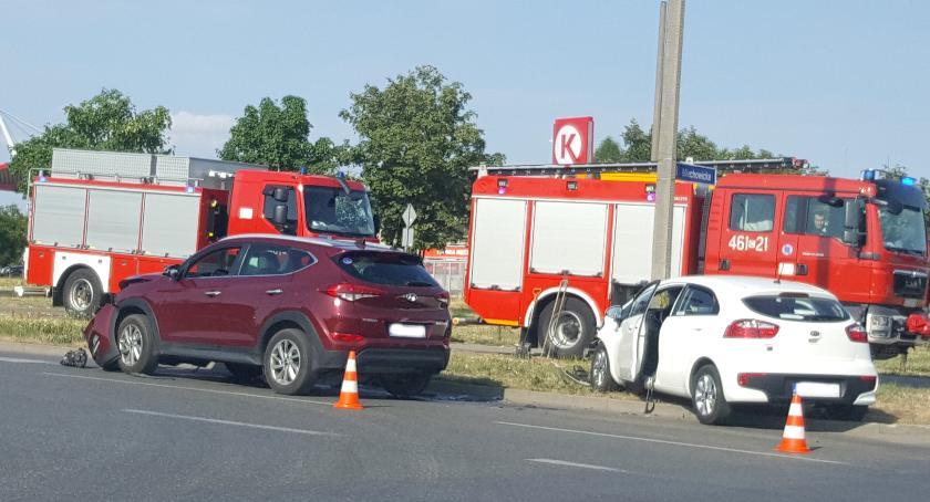 Wypadki drogowe , Zderzenie dwóch Miechowickiej - zdjęcie, fotografia