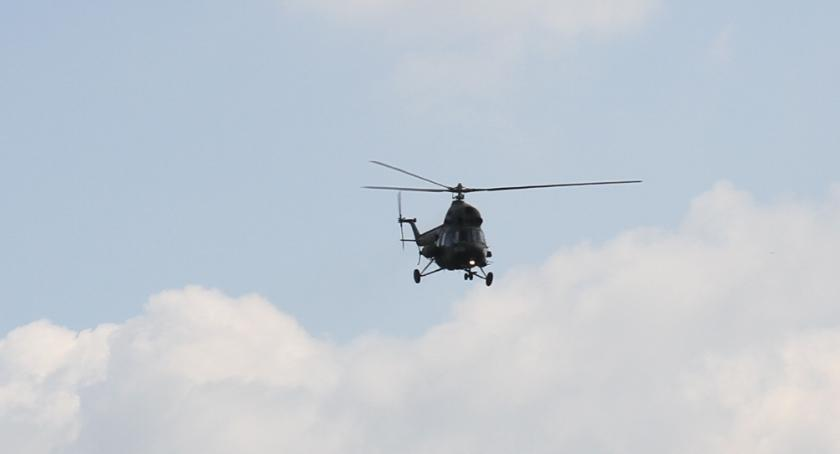 Straż Pożarna - interwencje , Wypadek udziałem helikotpera - zdjęcie, fotografia