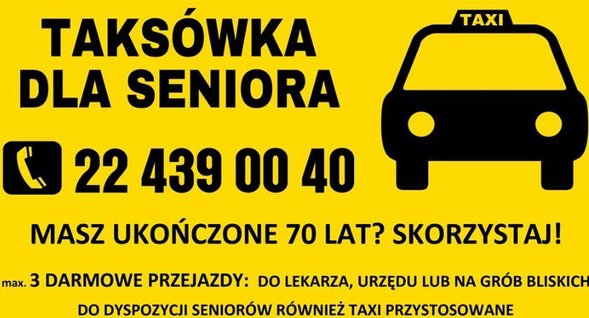 """Społeczeństwo, Skończyłeś Skorzystaj """"Taksówki seniora"""" - zdjęcie, fotografia"""