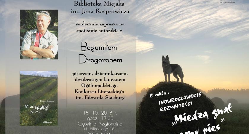 Książki, Spotkanie Bogumiłem Drogorobem - zdjęcie, fotografia