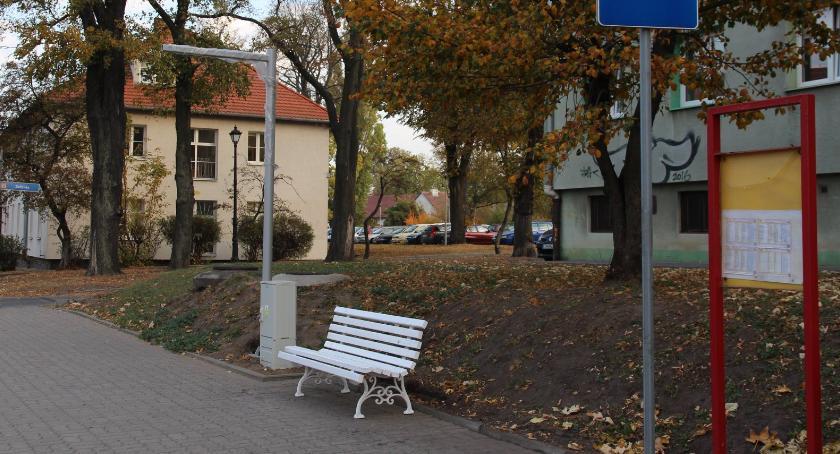Społeczeństwo, Solankowe ławki pojawiły przystankach - zdjęcie, fotografia
