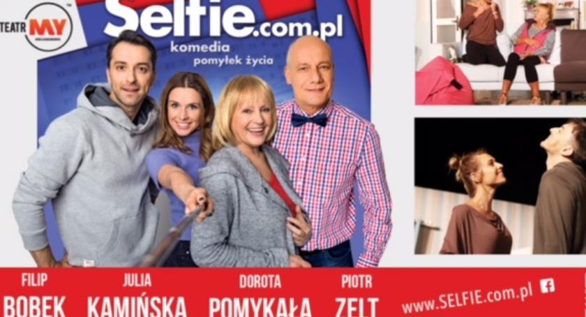 Teatr, Selfie inowrocławskim teatrze - zdjęcie, fotografia