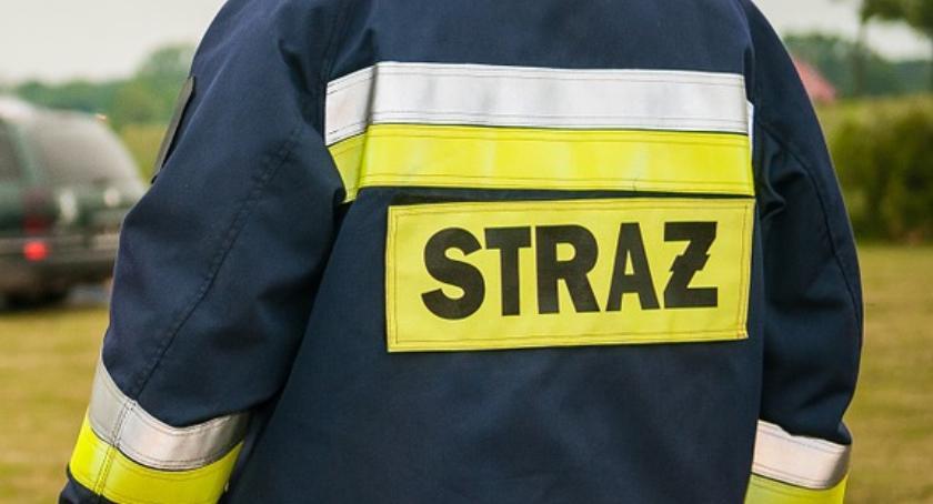 Straż Pożarna - interwencje , Pożar bloku Krzywoustego - zdjęcie, fotografia