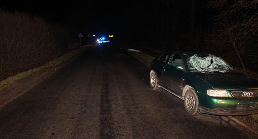 Wypadki drogowe , Śmiertelne potrącenie pieszej - zdjęcie, fotografia