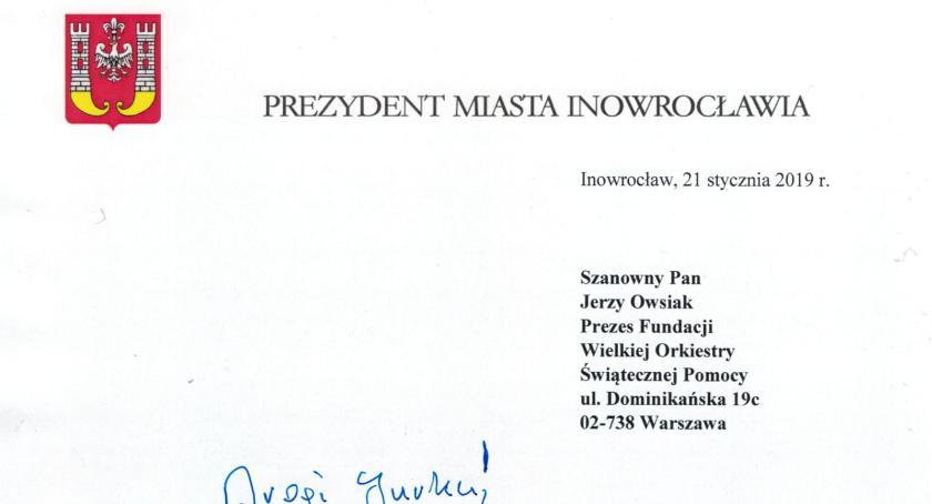 WOSP, Prezydent napisał Owsiaka - zdjęcie, fotografia