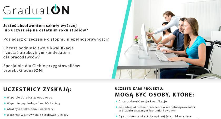 """Komunikaty, Projekt """"GraduatON"""" osób niepełnosprawnych - zdjęcie, fotografia"""