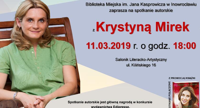 Książki, Spotkanie Krystyną Mirek Bibliotece Miejskiej - zdjęcie, fotografia