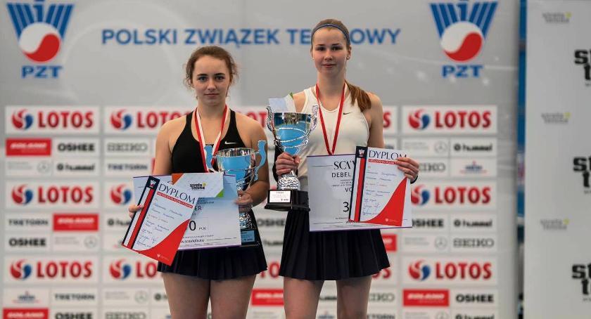Tenis ziemny, Zuzanna Szczepańska Inowrocławiu Mistrzynią Polski - zdjęcie, fotografia