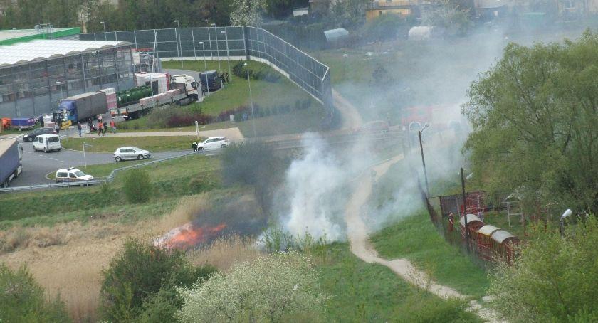 Straż Pożarna - interwencje , Pożar Orląt Lwowskich - zdjęcie, fotografia