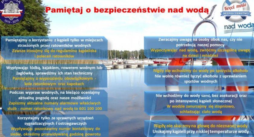 Pamiętaj o bezpieczeństwie nad wodą!