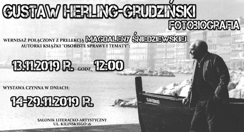 """""""Gustaw Herling – Grudziński – Fotobiografia"""" nowa wystawa w Bibliotece"""