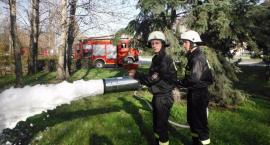 Klasa strażacka na ćwiczeniach