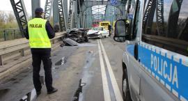 Poważny wypadek na moście w Toruniu