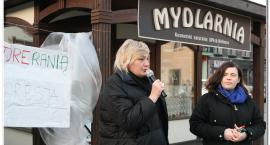 Niemy Protest na inowrocławskim Rynku