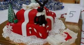 Królowały torty w aranżacji świątecznej