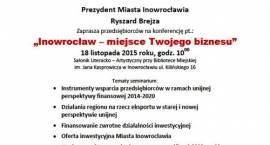 Inowrocław - miejsce Twojego Biznesu, konferencja dla przedsiębiorców